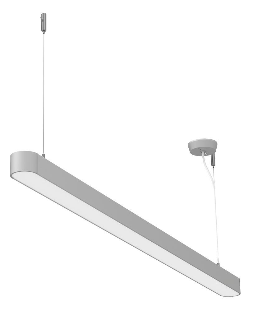 Lamp. LED a sosp. Straight, argent., 37W - 1