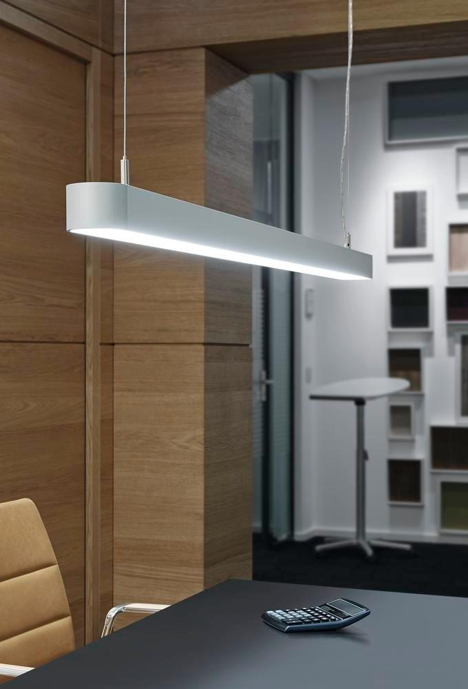 Lamp. LED a sosp. Straight, argent., 37W