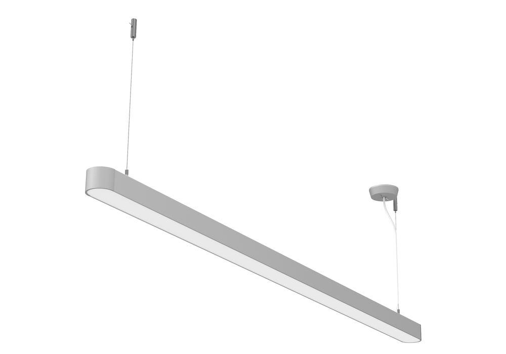 Lamp. LED a sosp. Straight, argent., 45 W