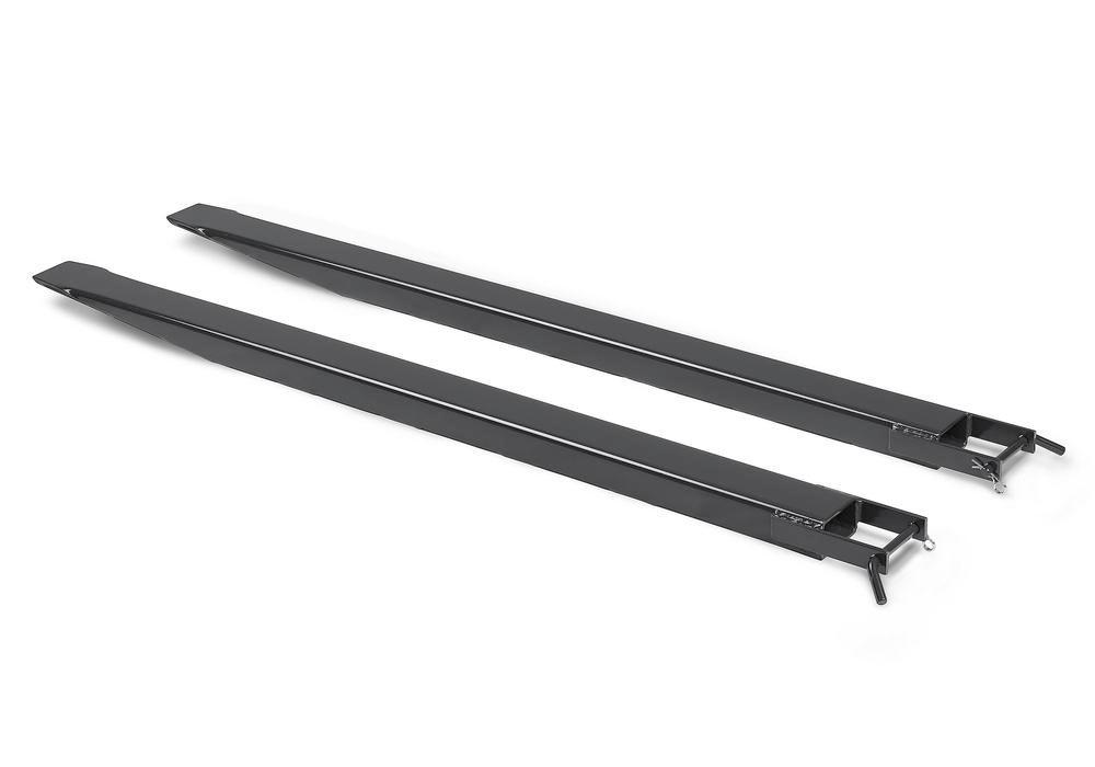 Prolungamento per forche, 2200 mm, per forche di dimensione 150 x 50 mm, nero - 1